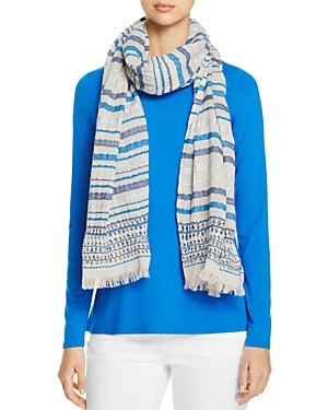 Eileen Fisher Striped Organic Cotton Scarf at Bloomingdale's