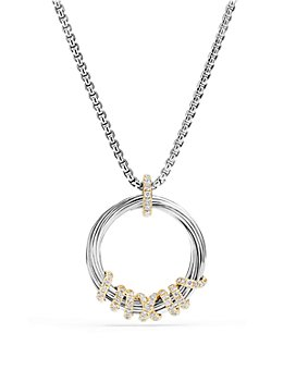 David Yurman - Helena Pendant Necklace with Diamonds and 18K Gold
