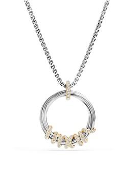 David Yurman - Helena Pendant Necklace with Diamonds and 18K Gold