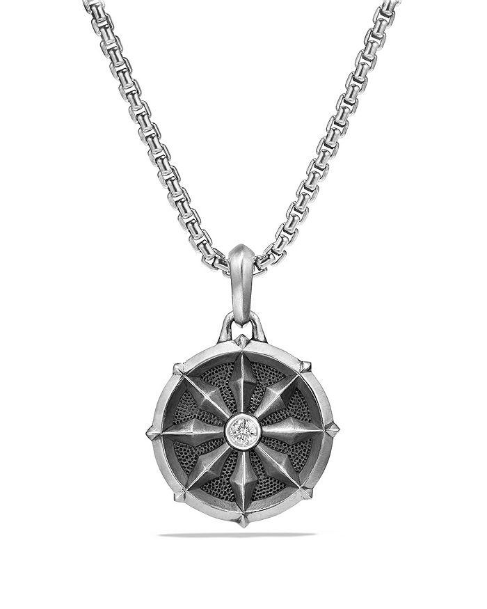 David Yurman - Dharma Wheel Amulet with Diamonds