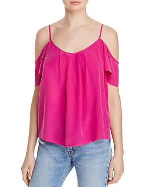 Joie Adorlee Cold-Shoulder Silk Top - 100% Exclusive