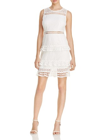 $AQUA Sleeveless Lace Tiered Dress - 100% Exclusive - Bloomingdale's