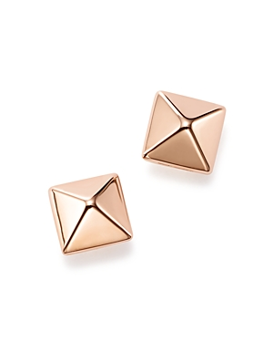 14K Rose Gold Small Pyramid Post Earrings - 100% Exclusive