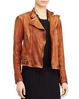 Ralph Lauren - Burnished Leather Moto Jacket