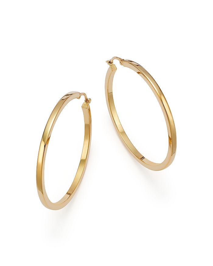 14k Yellow Gold Extra Large Hoop Earrings 100 Exclusive