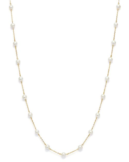 "Bloomingdale's - Cultured Freshwater Pearl Station Necklace in 14K Yellow Gold, 18"" - 100% Exclusive"
