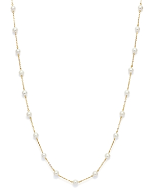 Bloomingdale's Cultured Freshwater Pearl Station Necklace in 14K Yellow Gold, 18