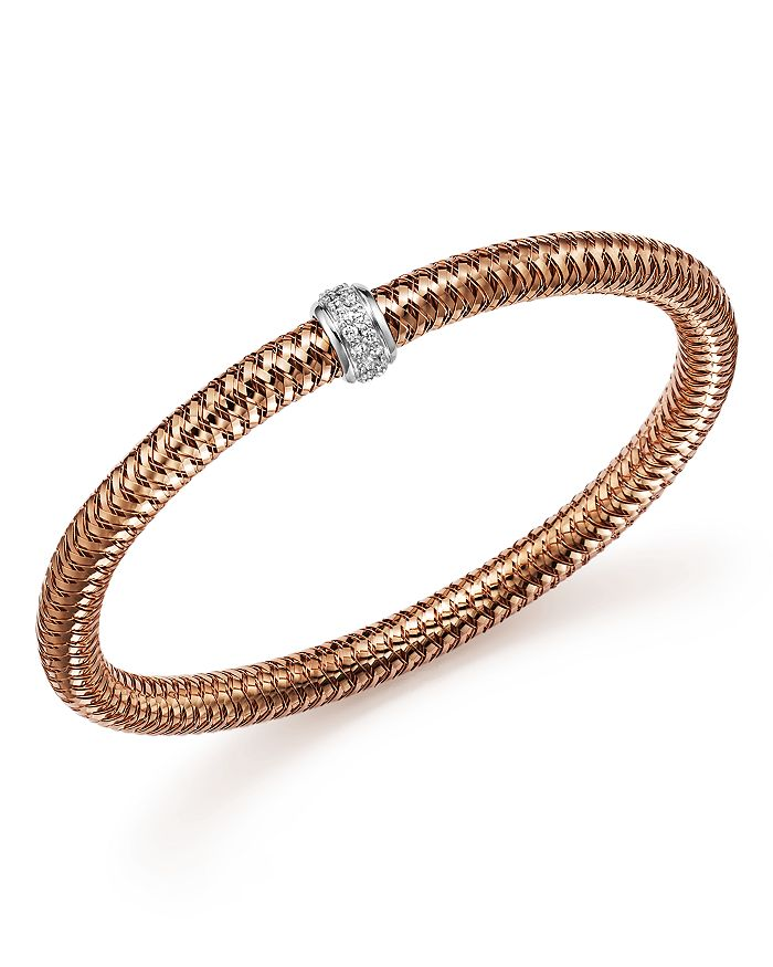 Roberto Coin - 18K Gold Primavera Stretch Bracelet with Diamonds