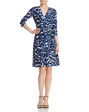 Leota Perfect Wrap Three-Quarter Sleeve Dress