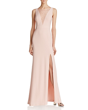 Adrianna Papell Lace-Inset Gown - 100% Exclusive