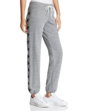 Monrow Star Embroidered Sweatpants - 100% Exclusive