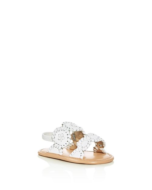 Jack Rogers - Girls' Medallion Leather Slingback Sandals - Baby