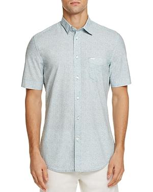 Diesel S-wop Abstract Print Regular Fit Button-Down Shirt