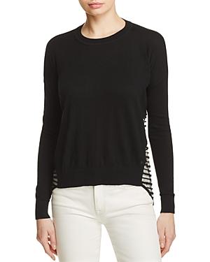 One Grey Day Frankie Sheer Stripe Sweater
