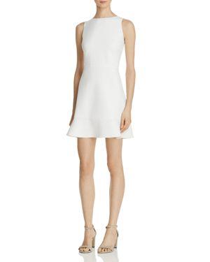 WOMAN TIFFANI CUTOUT CREPE DRESS WHITE