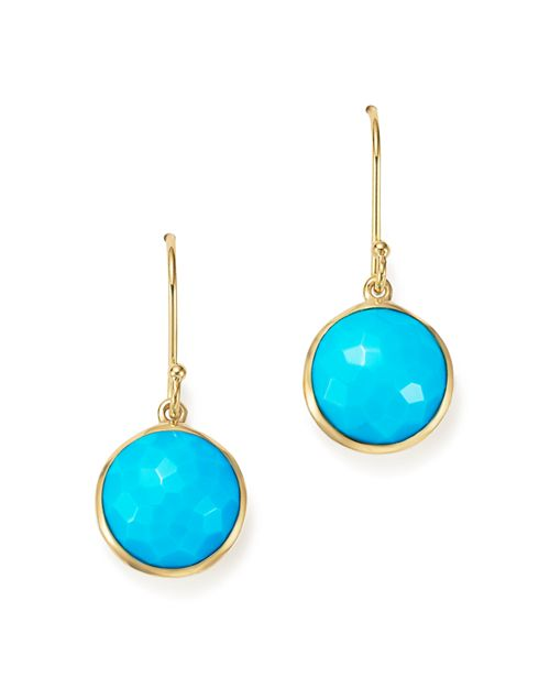 IPPOLITA - 18K Gold Lollipop Earrings in Turquoise