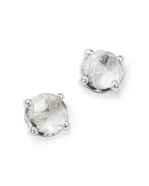 Ippolita Rock Candy Sterling Silver Mini Stud Earrings with Clear Quartz