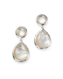 IPPOLITA - IPPOLITA Sterling Silver Rock Candy Snowman Post Earrings in Mother of Pearl