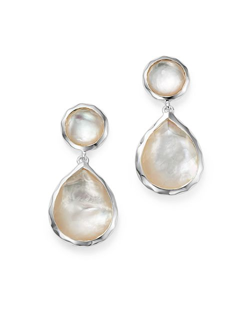 IPPOLITA - Sterling Silver Rock Candy Snowman Post Earrings in Mother of Pearl