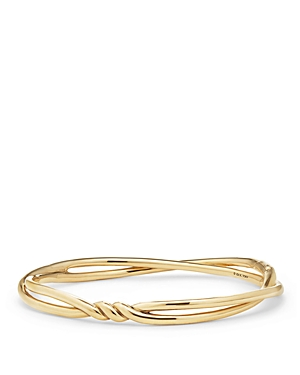 David Yurman Continuance Center Twist Bracelet in 18K Gold