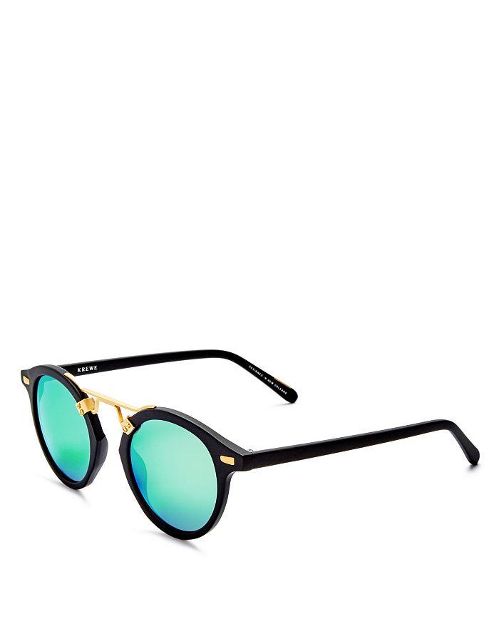35845e70c063 Krewe - Women s St. Louis 24K Mirrored Round Sunglasses