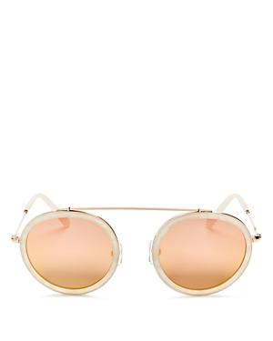 Krewe Conti Mirrored Round Sunglasses, 46mm