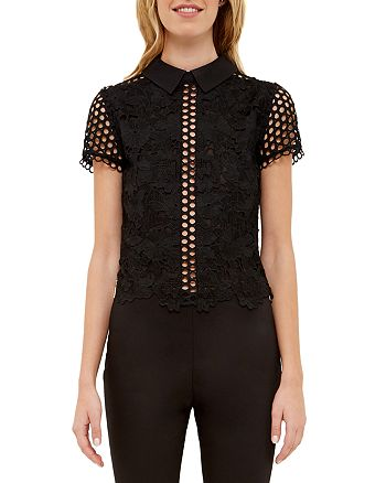 Ted Baker - Collared Lace Top
