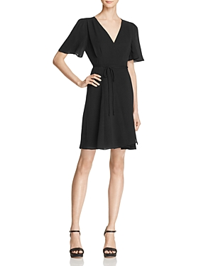 Betsey Johnson Crepe Wrap Dress