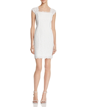 Adrianna Papell Lace Open Back Dress