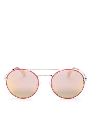 Prada Catwalk Round Mirrored Sunglasses, 54mm