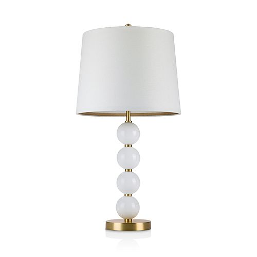 cupcakes and cashmere - Stack Glass Ball Table Lamp