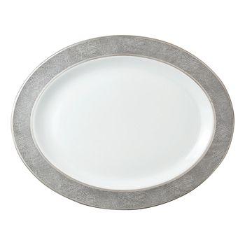 """Bernardaud - Sauvage Oval Platter, 15"""""""