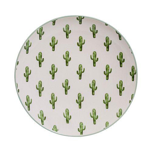 Bloomingville - Round Ceramic Jade Cactus Plate