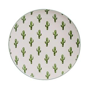 Bloomingville Round Ceramic Jade Cactus Plate