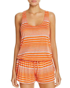 Splendid Sleeveless Striped Romper Swim Cover-Up