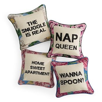 Sparrow & Wren - Needlepoint Decorative Pillows - 100% Exclusive