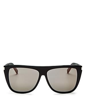 Saint Laurent Women\\\'s Flat Top Square Sunglasses, 59mm-Jewelry & Accessories