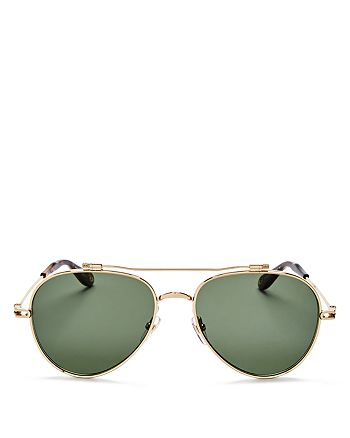 Givenchy - Women's Double Brow Bar Aviator Sunglasses, 58mm