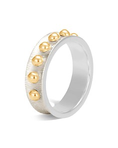 John Hardy 18K Yellow Gold and Sterling Silver Dot Band Ring - Bloomingdale's_0