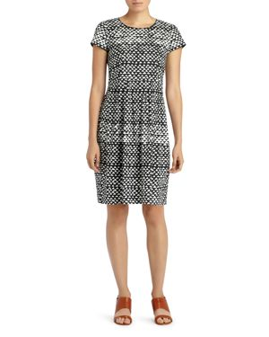 Lafayette 148 New York Gina Geo Print Sheath Dress