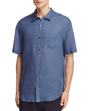 Vince Linen Slim Fit Button-Down Shirt