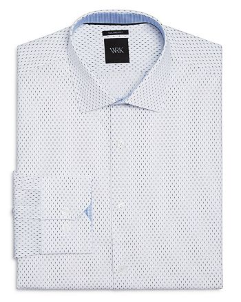 WRK - Matchstick Print Slim Fit Dress Shirt