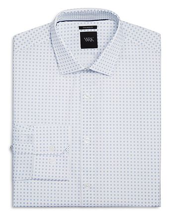 WRK - Micro Dot Square Slim Fit Dress Shirt