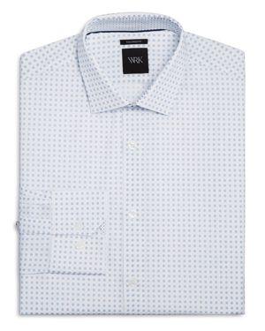 Wrk Micro Dot Square Slim Fit Dress Shirt
