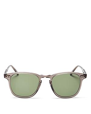 Garrett Leight Brooks Grey Crystal/G15 Sunglasses, 47mm