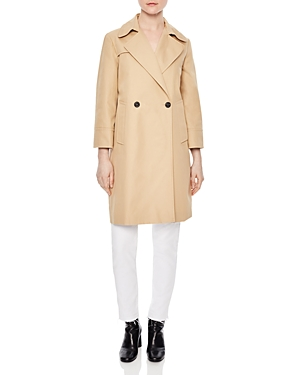 Sandro Wave Double-Breasted Coat