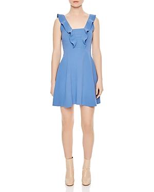 Sandro Helen Ruffled Mini Dress