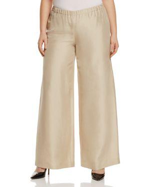 Marina Rinaldi Reporter Wide Leg Silk Pants