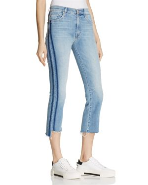 INSIDER CROP STEP FRAY JEANS IN LIGHT KITTY - 100% EXCLUSIVE