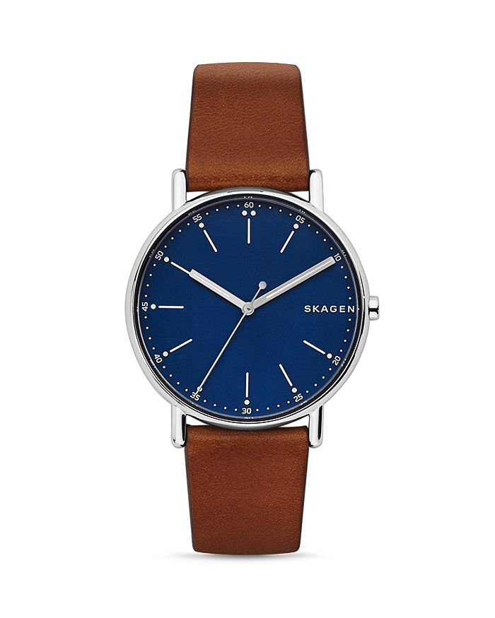 Skagen - Signature Leather Strap Watch, 40mm